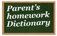 Kinder-Readers | Parent's homework Dictionary