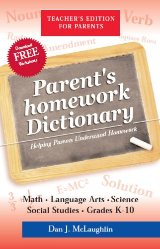 Parents homework Dictionary cover